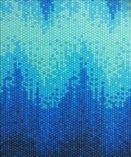 Tula Pink Zuma High tide blue fq cotton fabric rare oop vhtf 45x54cm
