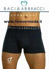 3 Boxer uomo Baci & Abbracci in cotone con elastico esterno loggato art BA01102