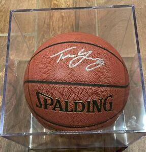 Trae Young Autographed Signed SPALDING Basketball Panini AUTHENTIC COA FANATICS