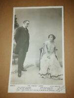 NORMAN McKINNEL & EVELYN MILLARD  * THE PERFECT LOVER * B&W PHOTO POSTCARD 1905