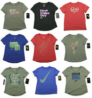 Girl's Youth Nike The NIKE Tee Athletic Cut Cotton T-Shirt S M L XL