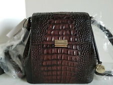 🌹Brahmin Margo Crossbody Croc Cocoa Sparrow Ombre Brown Leather Bag NWT