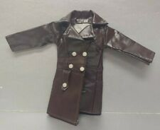 TOP BARBIE DOLL MATTEL SNOOPY FAUX BROWN LEATHER JACKET COAT CLOTHING  ACCESSORY