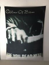 Children Of Bodom 2-SIDED FABRIC 30X43 POSTER FLAG FROM ITALY ~ Are You Dead