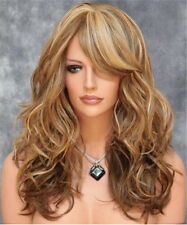 Hot New Top Sexy Women Fashion Long Blonde Curly Wavy Cosplay Hair Full Wig Wigs