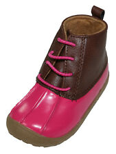 First Impressions Baby Girl 9-12 Months Size 4 Rain Duck Boots NWT Pink Fireball