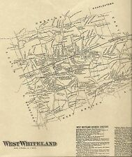 Exton West Whiteland, Kirkland Glenloch PA 1873 Map with Homeowners Names Shown
