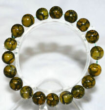8mm Natural African Roar Natural Tiger's Eye Round Beads Bracelet 19cm Ou