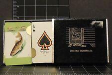 Vintage Playing cards 2 deck set fish fishing lures Brown Bigelow Engineering Co