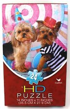 Paws For Thought Yorkie Shih Tzu Dog Puppy Party Cardinal HD 24 PIECE PUZZLE