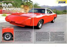 1969 DODGE CHARGER DAYTONA 440/375-HP ~ GREAT 6-PAGE MUSCLE CAR ARTICLE / AD