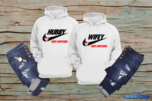 Couples Hubby-Wifey matching hoodies for couples
