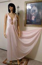OLGA vintage Nylon Keyhole Nightgown SATINY PINK style 9625 9 7 size 36 bust
