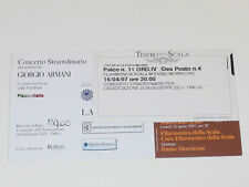 ENNIO MORRICONE alla Scala in Milano 16th April 2007 Original Concert Ticket