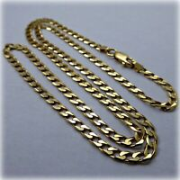 "18ct Gold 18"" Flat Curb Link Necklet"