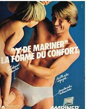 Publicité Advertising 1980 Sous vetements slip Homme Mariner