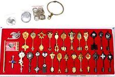 Coffret Box Set 29 Cles Lucy Porte Clefs Fairy Tail Keychain Keyring Collier Key