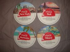 Coca Cola promo beer mats/coasters - set of 4
