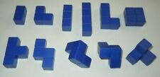 Blokus 3D Blue Replacement Parts LOT 11 Board Game Piece COMPLETE Set