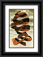M.C. Escher 2x Matted 20x24 Black Ornate Framed Art Print 'Rind'