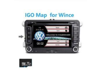 16GB GPS Maps MICRO SD Card North America USA Canada Wince Igo Offline Map