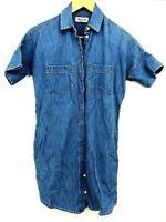 Madewell Chambray Jean Denim Dress Tunic Top Shirt XXS (D4)
