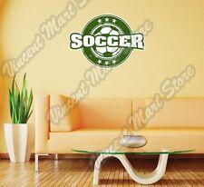 "Vintage Soccer Sport Stamp Football Ball Wall Sticker Room Interior Decor 25X22"""