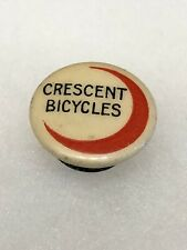 Antique 1890s 1900s Bicycle Stud Celluloid Button Pin CRESCENT BICYCLES