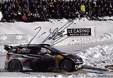 Jari-Matti Latvala SIGNED 12x8  Volkswagen Polo R WRC   Monte Carlo Rally 2016