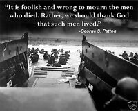 D-Day Invasion World War 2 WWII George S. Patton Quote New 8 x 10 Photo Picture
