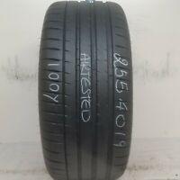 1 Tire 255 40 19 Michelin Pilot Sport 4 S (90% Tread) 100Y