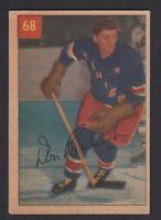 1954-55 PARKHURST # 68  DON  RALEIGH   PREMIUM BACK  VG   INV 9591