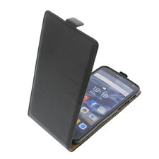 Tasche für Alcatel One Touch Pop 4 Plus FlipStyle Schutz Hülle Flip Case Schwarz