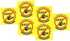 25 Ich schaue keine Propaganda Aufkleber Anti Merkel Anti GEZ Lügenpresse Peace