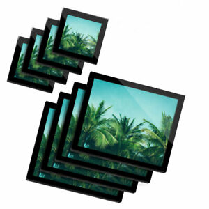 4x Glass Placemates & Coasters  - Palm Tree Blue Sky Summer  #2866