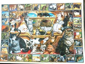 Cats of the World 1000 piece jigsaw  White Mountain Puzzles USA World of Cats