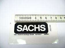 2 original Aufkleber: SACHS 60 x 20 mm in schwarz, UV - und wetterbeständig
