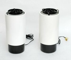 Vintage MCM Floor Lamps / White Accent Can Lights Electrix P8/6 Gainey Cylinder