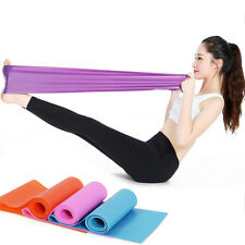 1.5m Elastic Yoga Pilates Rubber Exercise Stretch Resistance Fitness Band Belt