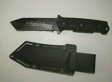 K. HANSOTIA & CO.BLACK SKINNER FIXED BLADE KNIFE WITH SHEATH **GIFT BOXED