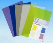 5 feuilles de papier calque vellum assortiment de 5 coloris