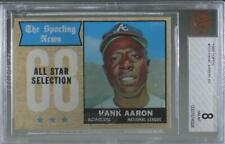 1968 Topps The Sporting News All Star Selection Hank Aaron #370 BVG 8 HOF