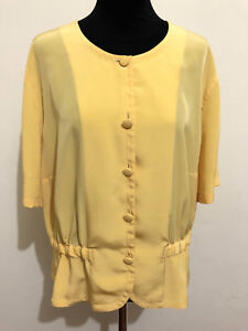RENATO BALESTRA VINTAGE '80 Camicia Donna Blusa Woman Shirt Sz.XL - 48