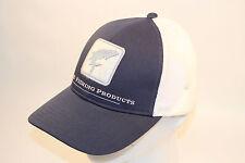 Simms Fishing Adjustable Tarpon Trucker Hat in Navy Nightfall and Free Decal