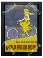 Historic Humber bicycles, late 19th century Advertising Postcard 1