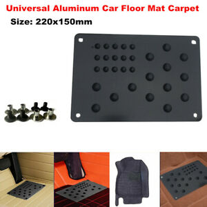 220x150mm Aluminum Car SUV Floor Mat Carpet Heel Plate Foot Pedal Rest Universal