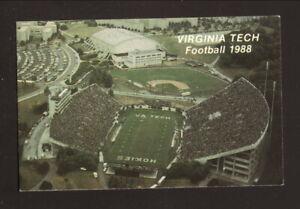 Virginia Tech Hokies--Lane Stadium--2011 Football Pocket Schedule