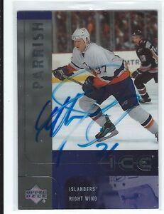 Mark Parrish Signed 2001/02 Upper Deck Ice Update Card #105