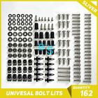 Silver 162Pcs Fairings Bolt Kit Fastener Nuts Screws for GSXR 1300 Hayabusa