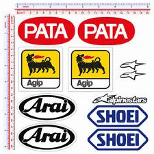 Adesivi sponsor sticker alpinestar shoei arai agip pata print pvc 11 pz.